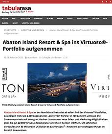 Abaton Island Resort & Spa ins Virtuoso®-Portfolio aufgenommen
