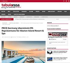 PRCO Germany übernimmt PR-Repräsentanz für Abaton Island Resort & Spa