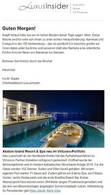 Abaton Island Resort & Spa new im Virtuoso-Portfolio