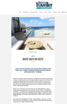 White days on Crete Bleisure Traveller