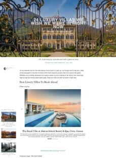 27 Luxury Villas we wish we were in right now