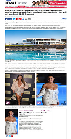 Inside the Celebs Go Dating's Crete villa
