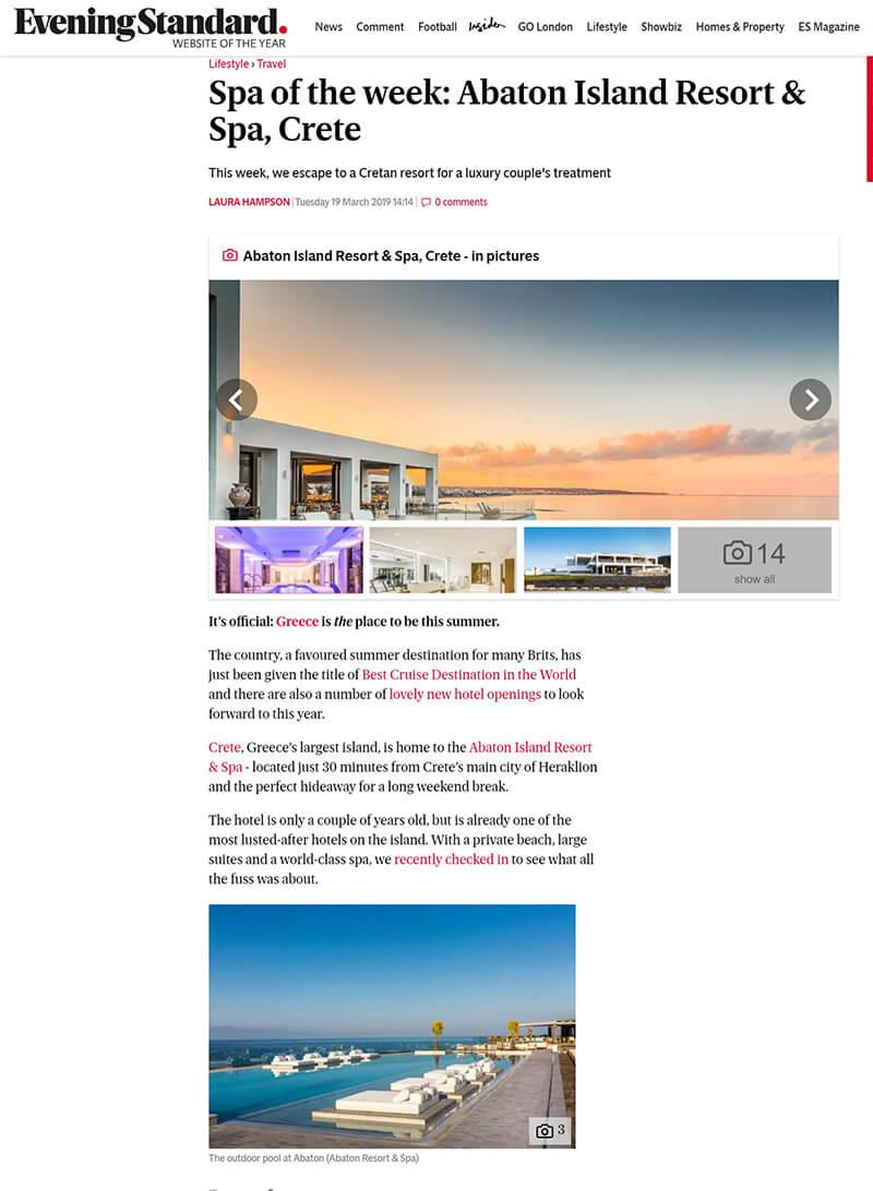 Spa of the week: Abaton Island Resort & Spa, Crete
