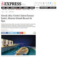 Greek chic: Crete's latest luxury hotel, Abaton Island Resort & Spa
