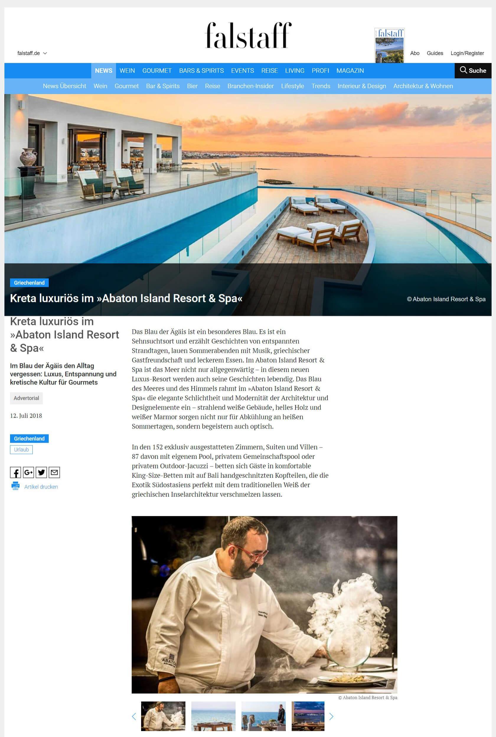 Crete luxury at Abaton Island Resort & Spa