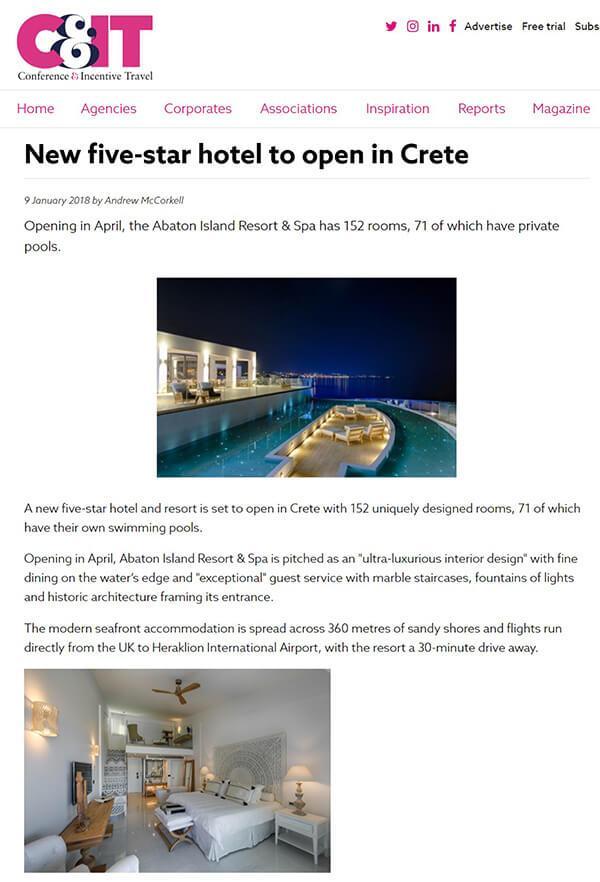 New five-star hotel to open in Crete